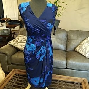 Chaps floral dress size 4 from Macy's.  Size small